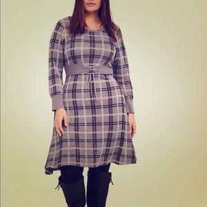 NWT Torrid Grey Sweater Knit Corset Dress Size 2